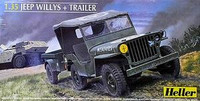 Jeep Willys w/Trailer 1/35 Heller