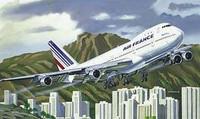 Boeing 747 Air France Commercial Airliner 1/125 Heller