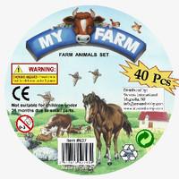 Farm Animals Playset (40pcs/Tub) 1/32 Playsets