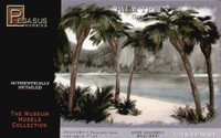"Palm Trees w/Fan Leaf (5"" Tall) 1/72-1/87 (5) Pegasus"