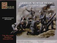 German Mortar Teams Set (23 Figures, 3 81mm & 2 120mm Mortars) (Plastic Kit) 1/72 Pegasus