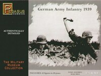 German Infantry Soldiers, 1939 (42) (Plastic Kit) 1-76 Pegasus