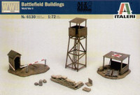 Battlefield Buildings (First-Aid Post, Check Point & Tower) 1/72 Italeri