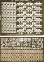 USS Essex Detail Set Weapons & Antennae for TSM (3 Sheets) 1/350 White Ensign