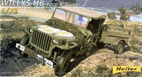 Willys MB Jeep & Supply Trailer 1/72 Heller