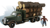 Tim Burr Logging Truck HO Scale Woodland Scenics