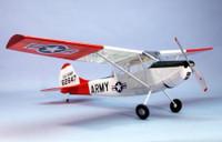"""L19 Bird Dog Wooden Airplane Kit 40"""" Wingspan Dumas"""