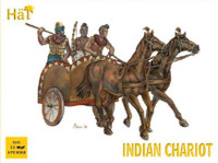 Indian Chariot w/Warriors (3 Chariots, 15 Figures & 6 Horses) 1/72 Hat