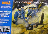 Mexican American War American Infantry Figure Set 1/72 Imex
