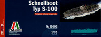 S-100 Military WWII Boat Schnellboot Type 1/35 Italeri