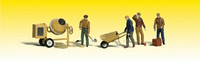Masonry Workers w/Accessories (4) O Scale