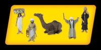 """Scene-A-Rama Scene Setters Egyptian Culture Figures 1-1/2"""" (5pcs)"""