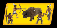 "Scene-A-Rama Scene Setters Native American Hunter Figures 1-1/2"" (5pcs)"
