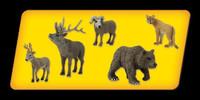 Scene-A-Rama Scene Setters North American Widlife Animals (5pcs)