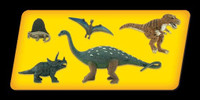 Scene-A-Rama Scene Setters Prehistoric Life Dinosaures (5pcs)