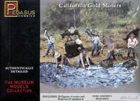 California Gold Miners 28 Figures 4 Mules & 10 Bins 1/72 Pegasus
