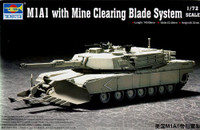 M1/A1 Abrams Main Battle Tank w/Mine Clearing Equipment 1/72 Trumpeter