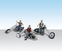 Autoscene Bad Boy Bikers (3 Riders on Choppers)