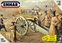Russian Artillery (27) w/3 Guns Crimean War 1854-56 1/72 Emhar