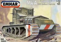 Mk A Whippet Medium A Tank 1918 1-72 Emhar