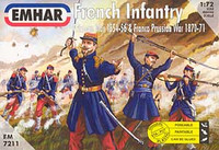 French Infantry Crimean War 1854-56 & Franco Prussian War 1870-71 (50) 1/72 Emhar