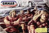 Viking Oarsmen 9th-10th Century (32 Sitting & 10 Standing) 1/72 Emhar