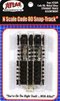 N Code 80 Nickel Silver Straight Snap-Track Assortment Atlas Trains