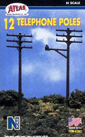 N Telephone Poles (12Pc/Bx) Atlas Trains