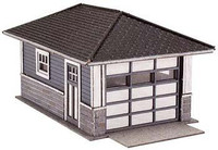 Barb's Bungalow Garage Wooden Kit (2) N Scale Atlas Trains