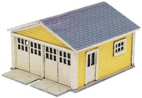 Kate's Colonial 1920's Garage Wooden Kit (2) N Scale Atlas Trains