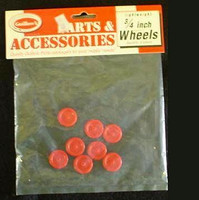 "Plastic Wheels 3/4""  (8) Guillows"