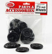 "Plastic Half Wheels 1-3/4"" (4pr) Guillows"