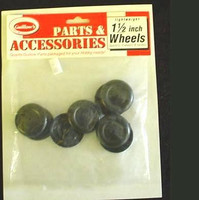 "Plastic Half Wheels 1-1/2""  (4pr) Guillows"