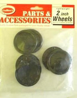 "Plastic Half Wheels 2"" (4pr) Guillows"