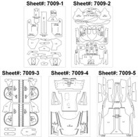 Enzo Template Comp. Fiber Decal Set 1/24 Scale Motorsport