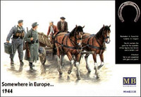Horse & Cart with Travelers: 'Somewhere in Europe' 1944 1/35 Master Box