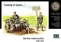 'Letting Off Steam: WWII German BMW R75 Motorcycle & Riders 1940-43 1/35 Master Box