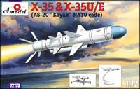 Kh-35 & Kh-35U/E (AS-20 Kayak NATO Code) Soviet Guided Missiles 1/72 A-Model