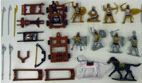 Russian Knights Playset (8 Figures w/Weapons, Catapults & 2 Horses) (Bagged) 1/32 Playsets
