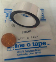 "1/2""x120"" Chrome Tape"