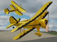 "Waco YMF5 Rubber Pwd. Airplane Laser Cut Kit 18"" Wingspan Dumas"