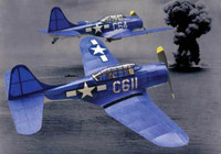 "SBD-5 Dauntless Rubber Pwd. Airplane Laser Cut Kit 18"" Wingspan Dumas"