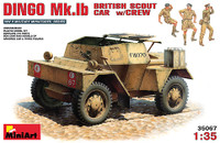 Dingo Mk 1b British Scout Car w/3 Crew Figures 1-35 Miniart