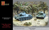 T-34/85 Soviet Battle Tanks (2) (Snap Kit) 1/72 Pegasus