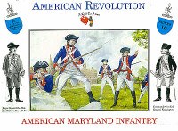 American Revolution American Maryland Infantry (16) 1/32 Call to Arms