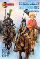 30 Year War Swedish Cavalry Curassiers (12 W/12 Horses) 1/72 Mars