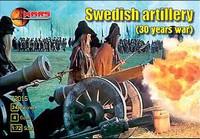 30 Year War Swedish Artillery (24 & 4 Guns) 1/72 Mars