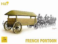 Napoleonic French Pontoon & Lumber on Wagon (3 Sets) 1/72 Hat