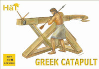 Ancient Greek Warrior Figures (24) & Cataputs (4) 1/72 Hat