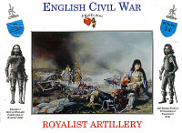 English Civil War Royalist Artillery (16) 1/32 Call to Arms